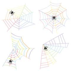 Cobweb and spider weave a web