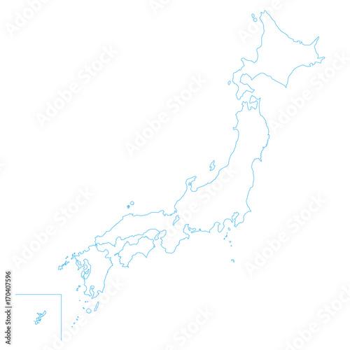 日本地図 白地図fotoliacom の ストック写真とロイヤリティフリーの