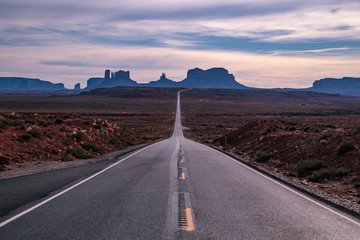 Famous road to Monument Valley, Utah / Arizona