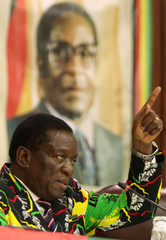 Vice President Emmerson Mnangagwa addresses a ZANU PF Central Commitee meeting in Harare