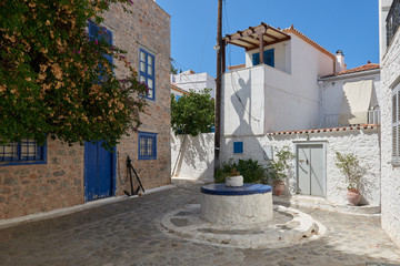 Outdoor terrace at Hydra island