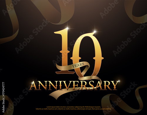 Year anniversary celebration logotype template th logo with