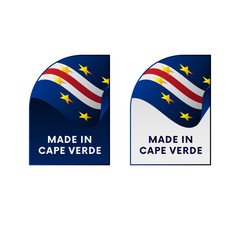 Stickers Made in Cape Verde. Vector illustration.