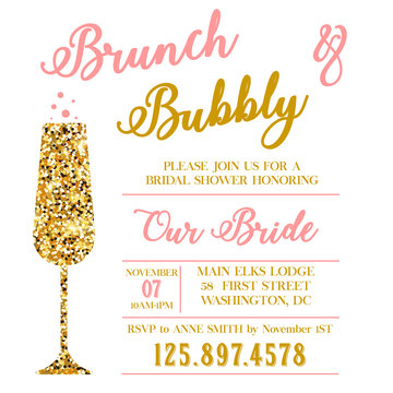 Brunch and Bubble bridal shower