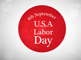 illustration of elements of USA Labor Day background