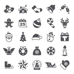 Christmas Happy New Year Icons