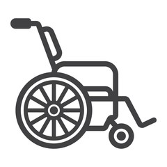 Wheelchair line icon, medicine and healthcare, disabled sign vector graphics, a linear pattern on a white background, eps 10.