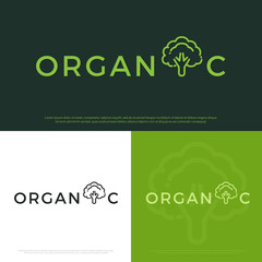Vector set of organic logo with corporate identity design templates.