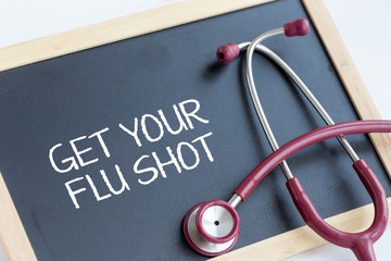 GET YOUR FLU SHOT CONCEPT
