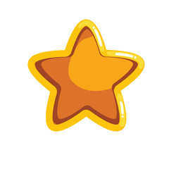 Logo with cartoon groove star