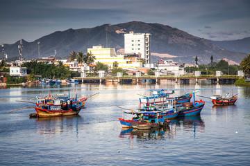 view over Nha Trang and river Kai from Po Nagar cham towers, Vietnam