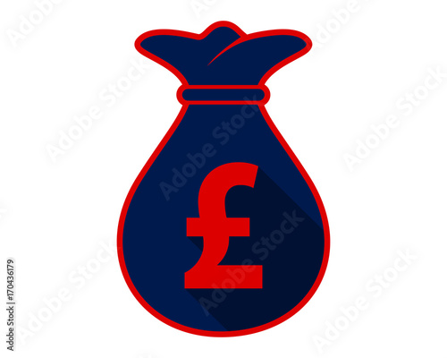 Pound Sterling Sack Currency Symbol Money Image Icon Vector Stock
