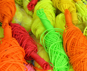 colorful bright threads