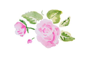 Watercolor illustration of a flower