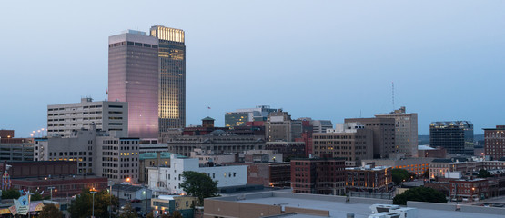 Panoramic View Downtown Omaha Nebraska City Skyline