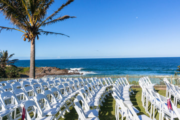 Chairs Wedding Beach Ocean Venue