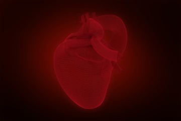 Composite image of vector image of 3d human heart