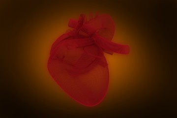 Composite image of digitally generated image of 3d human heart