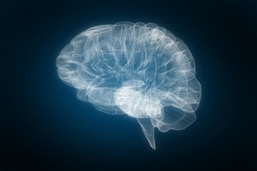 Composite image of 3d image of human brain