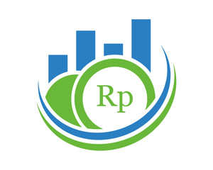 rupiah graph chart diagram icon image vector