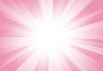 Soft pink glitter sparkles rays lights bokeh festive elegant abstract background.
