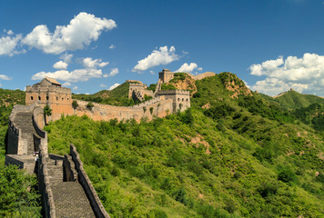 Canvas Prints Great Wall Great Wall of China winding its way over the mountains with beautiful sky