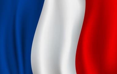 Vector flag of France. French national symbol