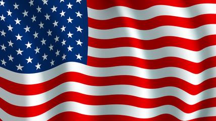 Vector flag of USA. American national symbol