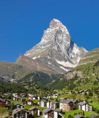 Swiss beauty, Zermatt under Matterhorn,Valais,Switzerland,Europe