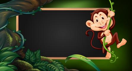 Border template wtih monkey on vine