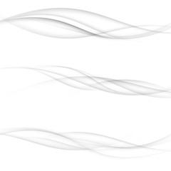 Fototapeta Modern transparent swoosh speed halftone modernistic lines collection. Elegant futuristic wind smooth mild smoke air waves