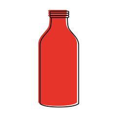 glass bottle icon image vector illustration design  red color