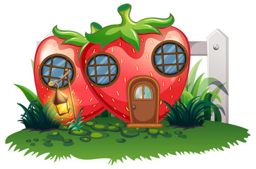 Strawberry house in garden