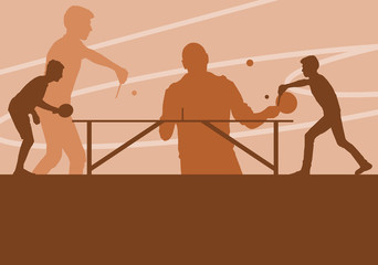 Table tennis player vector abstract