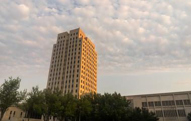 Clouds Roll In North Dakota Capital Building Bismarck