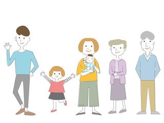 シンプルな家族のイラスト02
