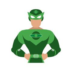 superhero with green uniform avatar icon image vector illustration design