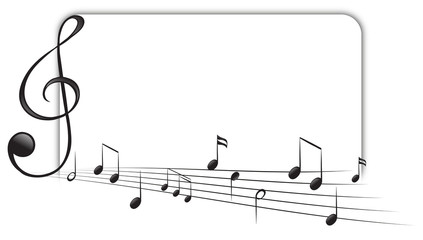Background template with music notes