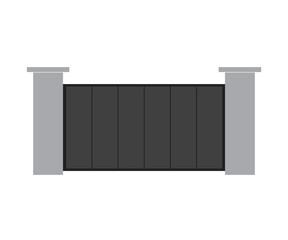 metal gate- vector illustration