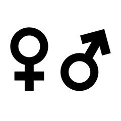 female male gender icon isolated vector