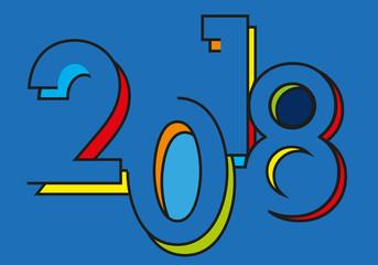 2018 - carte de vœux - année - vœux -présentation - design