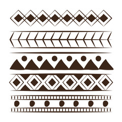 Decorative boho pattern background over white background vector illustration graphic design
