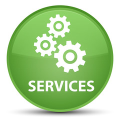 Services (gears icon) special soft green round button