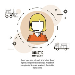 Logistic and delivery system infographic over white background vector illustration graphic design