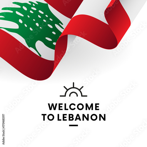 quotlebanon flag in heart i love my country sign vector