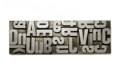 Wooden  typography set against white background