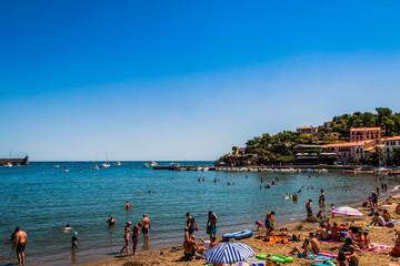 Plage de Port d'Avall et Ansa de la Baleta à Collioure