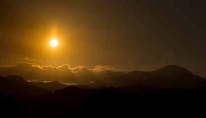 Teano CE, tramonto