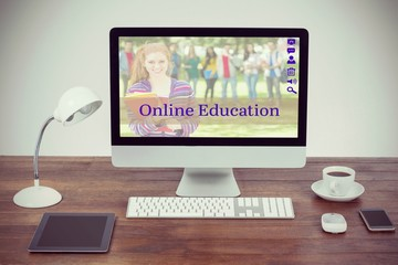 Composite image of composite image of students for online