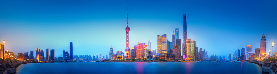 Garden Poster Shanghai Shanghai skyline cityscape